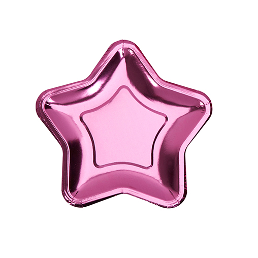 Foil Star Plate - Small - Pink