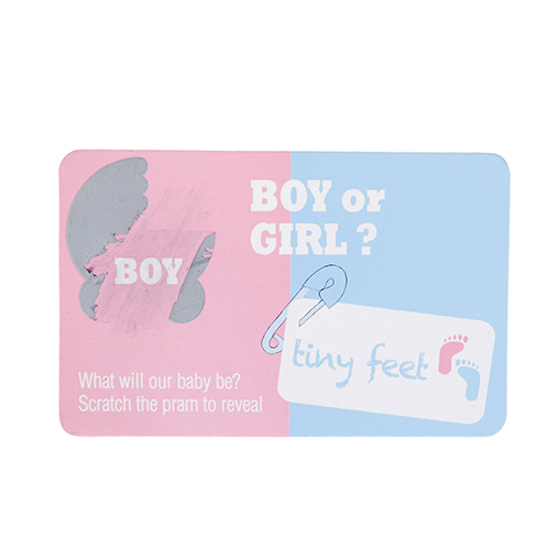 Tiny Feet Gender Reveal Scratch Cards - Boy