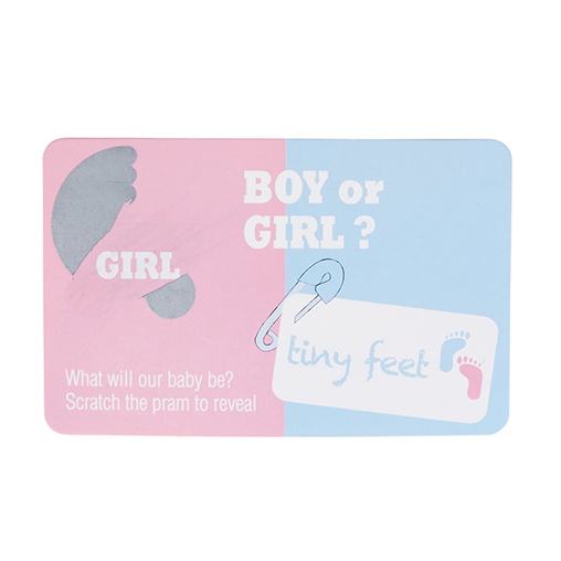 Tiny Feet Gender Reveal Scratch Cards - Girl