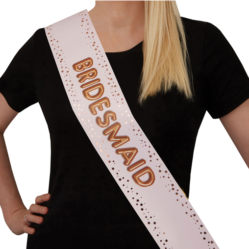 Glitz & Glamour Hen Party Sash - Bridesmaid