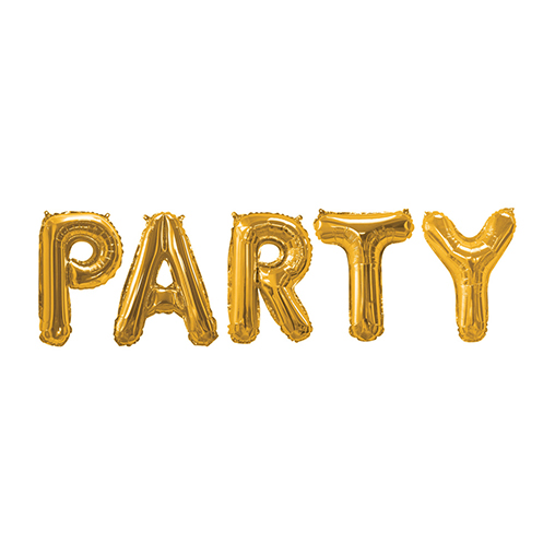 Gold Foil Balloons - Party