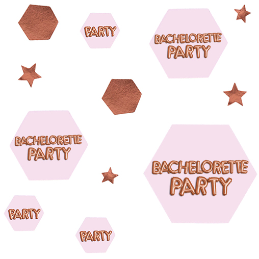 Glitz & Glamour Pink & Rose Gold Scatter - Bachelorette Party