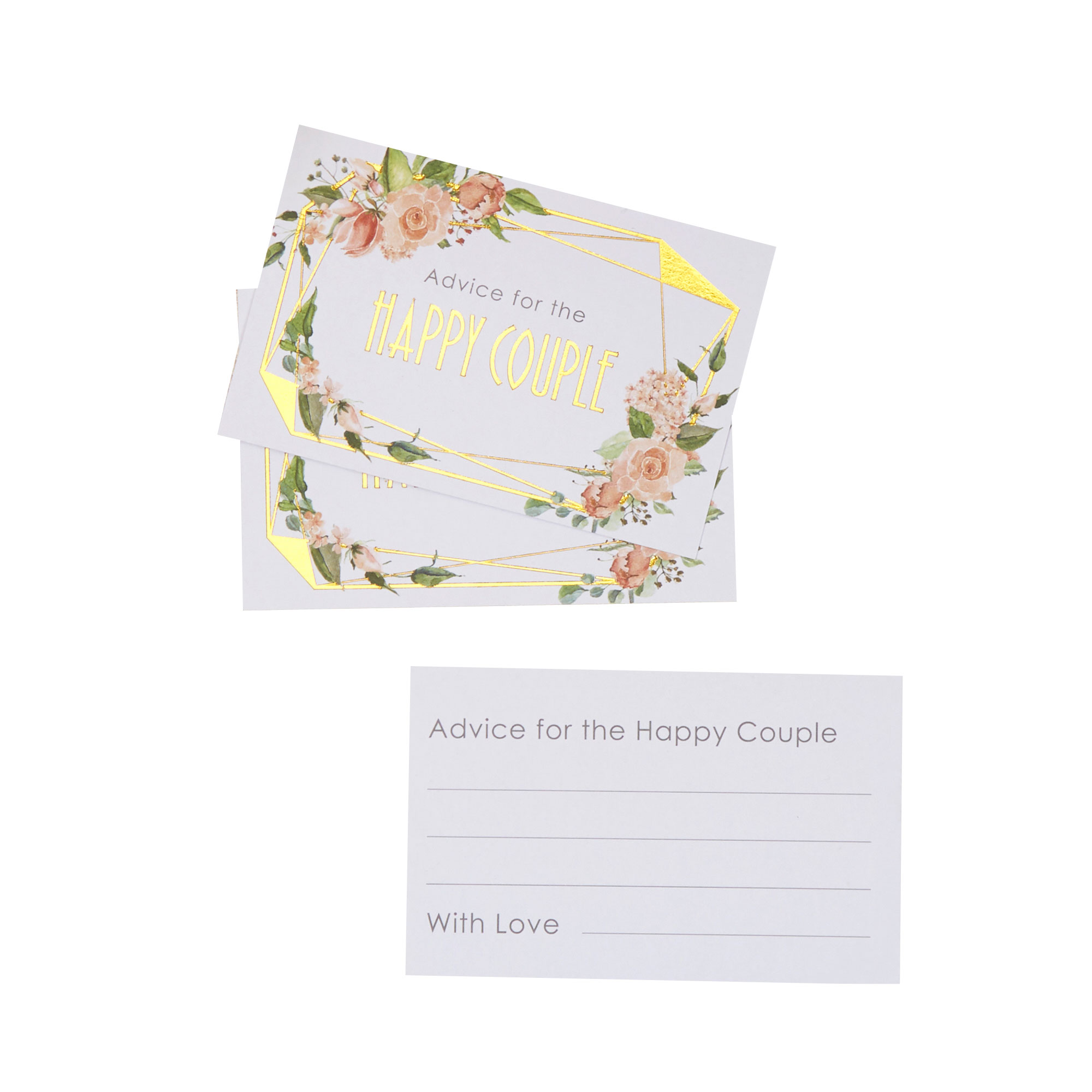 Geo Floral - Wedding Wishes Cards