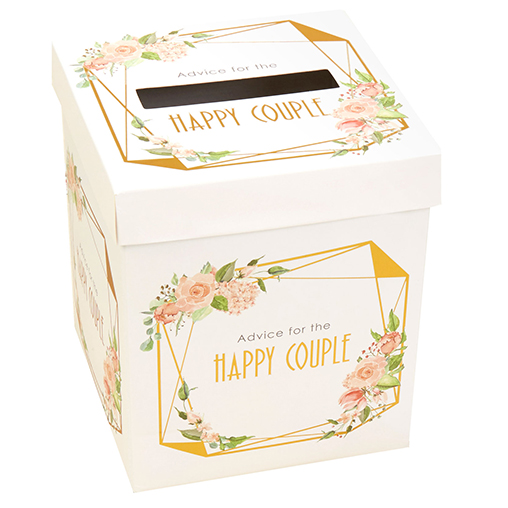 Geo Floral - Wedding Wishes Post Box
