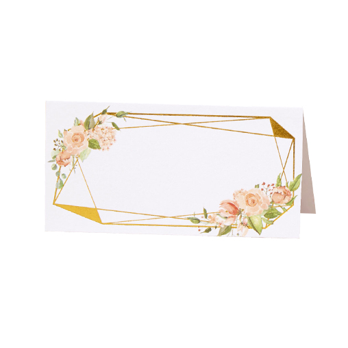 Geo Floral - Place Cards