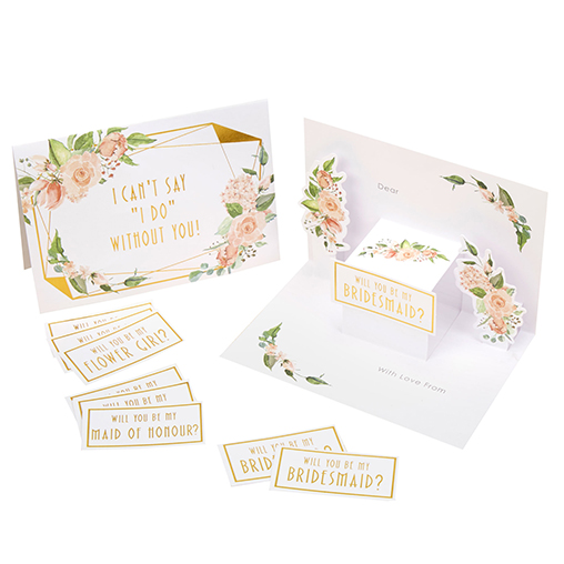 Geo Floral - Bridesmaid Cards
