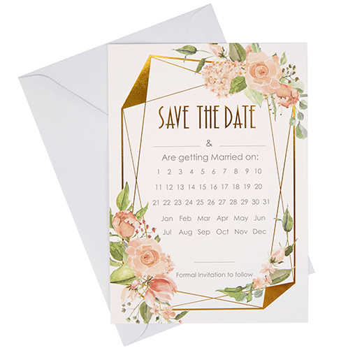 Geo Floral - Save The Date Cards