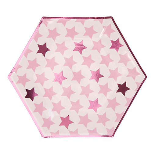 Little Star Pink - Large Paper Plates