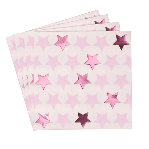 Little Star Pink - Paper Napkins
