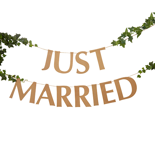 Hearts & Krafts - Just Married Bunting - Large