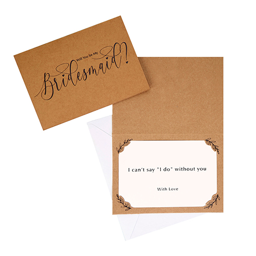 Hearts & Krafts - Bridesmaid Cards