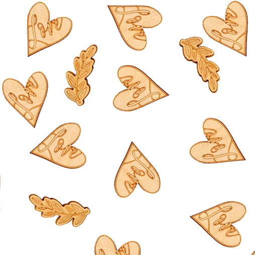 Hearts & Krafts Wooden Confetti
