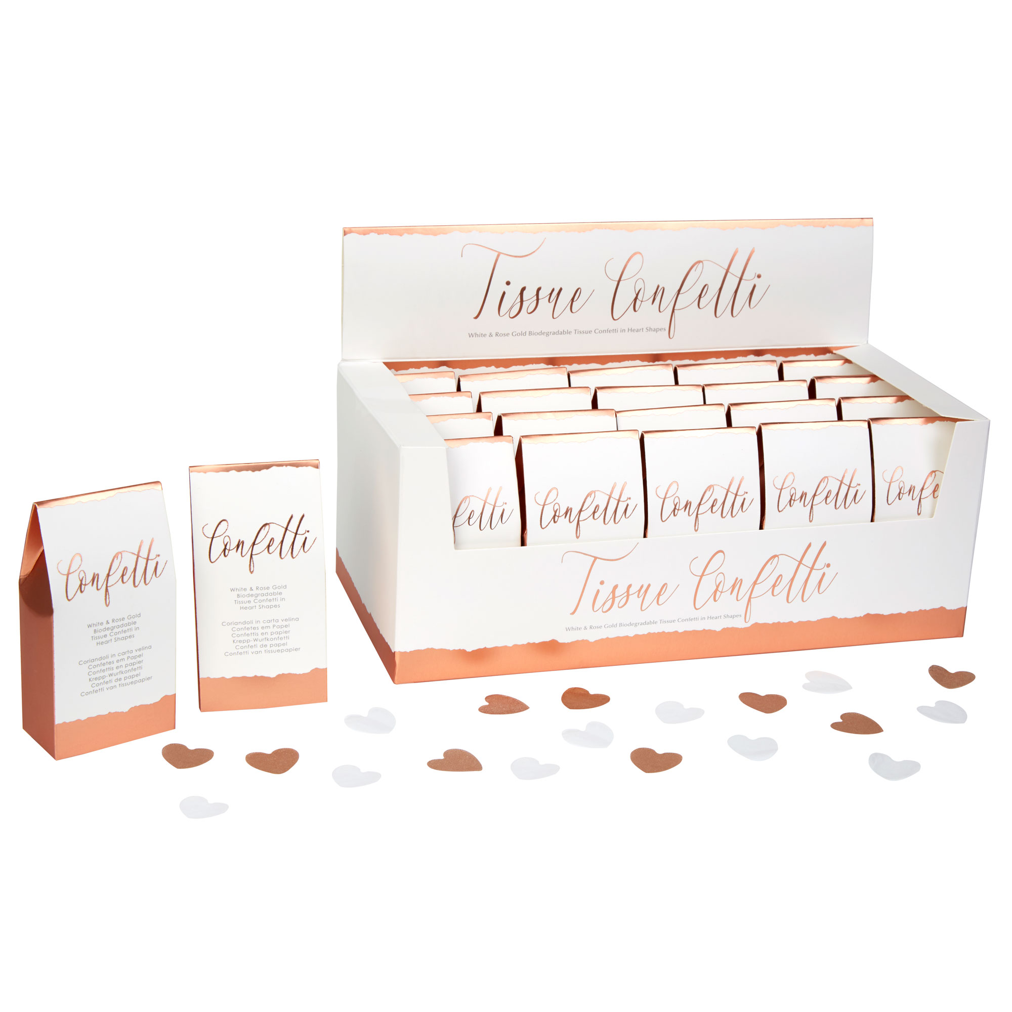 Neviti Dipped in Rose Gold - Tissue Confetti - 20 Pack