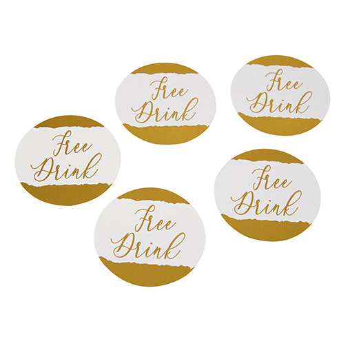 Neviti Dipped in Gold Drinks Tokens - 25 Pack