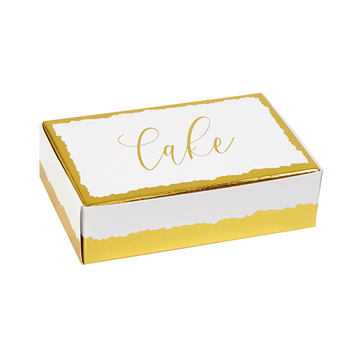 Neviti Dipped in Gold Cake Boxes - 10 Pack