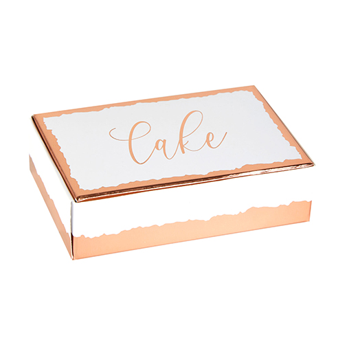 Neviti Dipped in Rose Gold Cake Boxes - 10 Pack