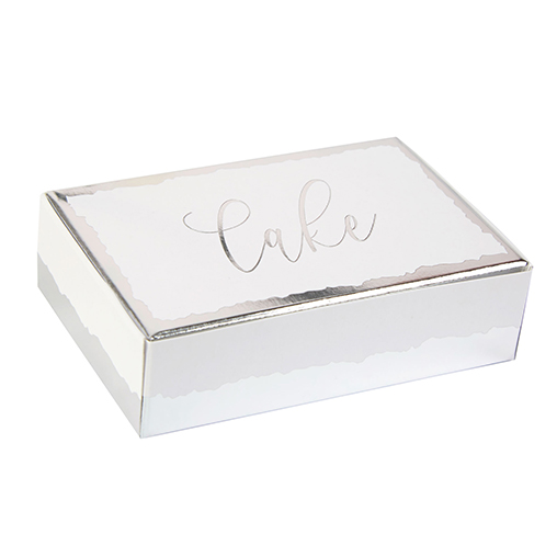 Neviti Dipped in Silver Cake Boxes - 10 Pack