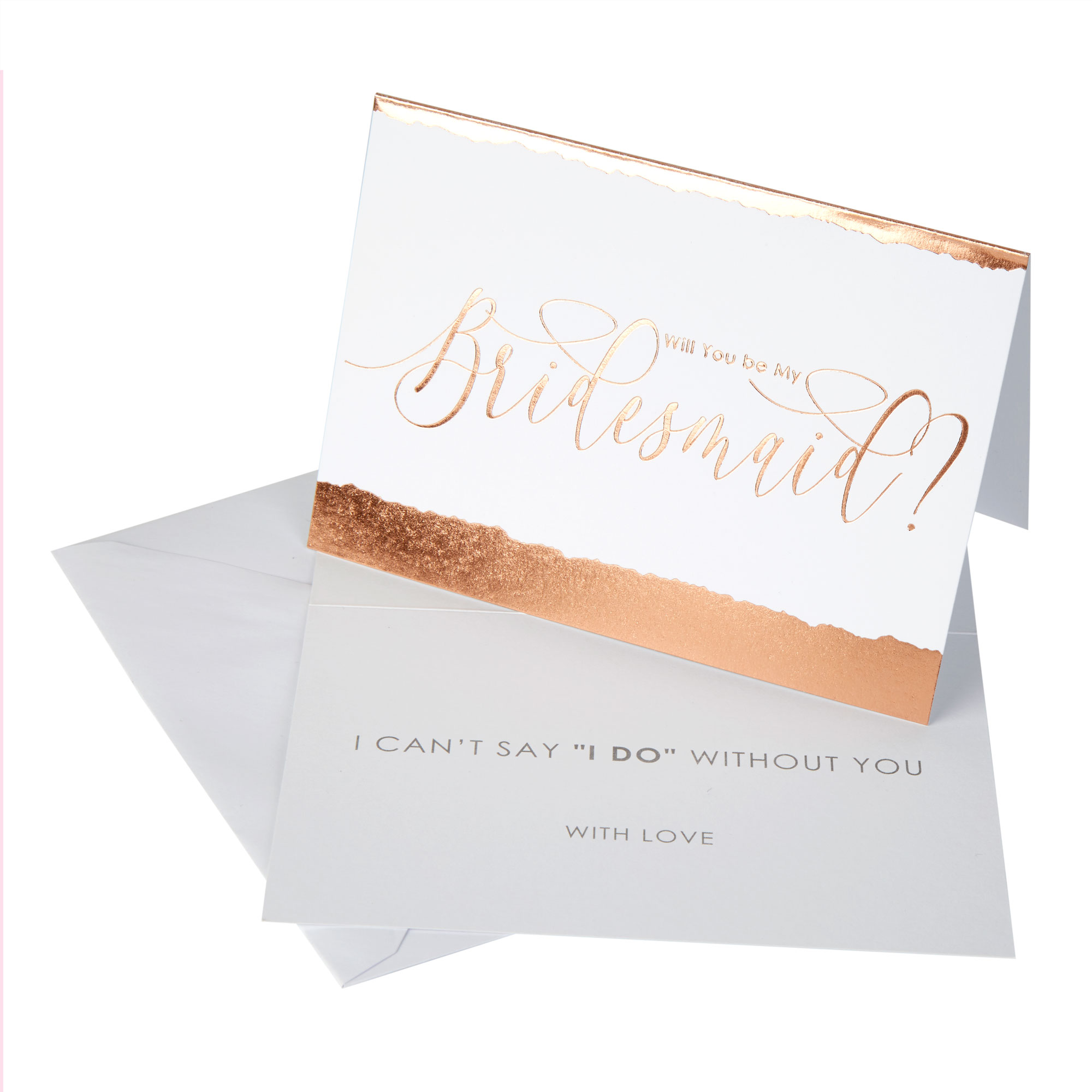 Neviti Dipped in Rose Gold Bridesmaid Cards - 3 Pack