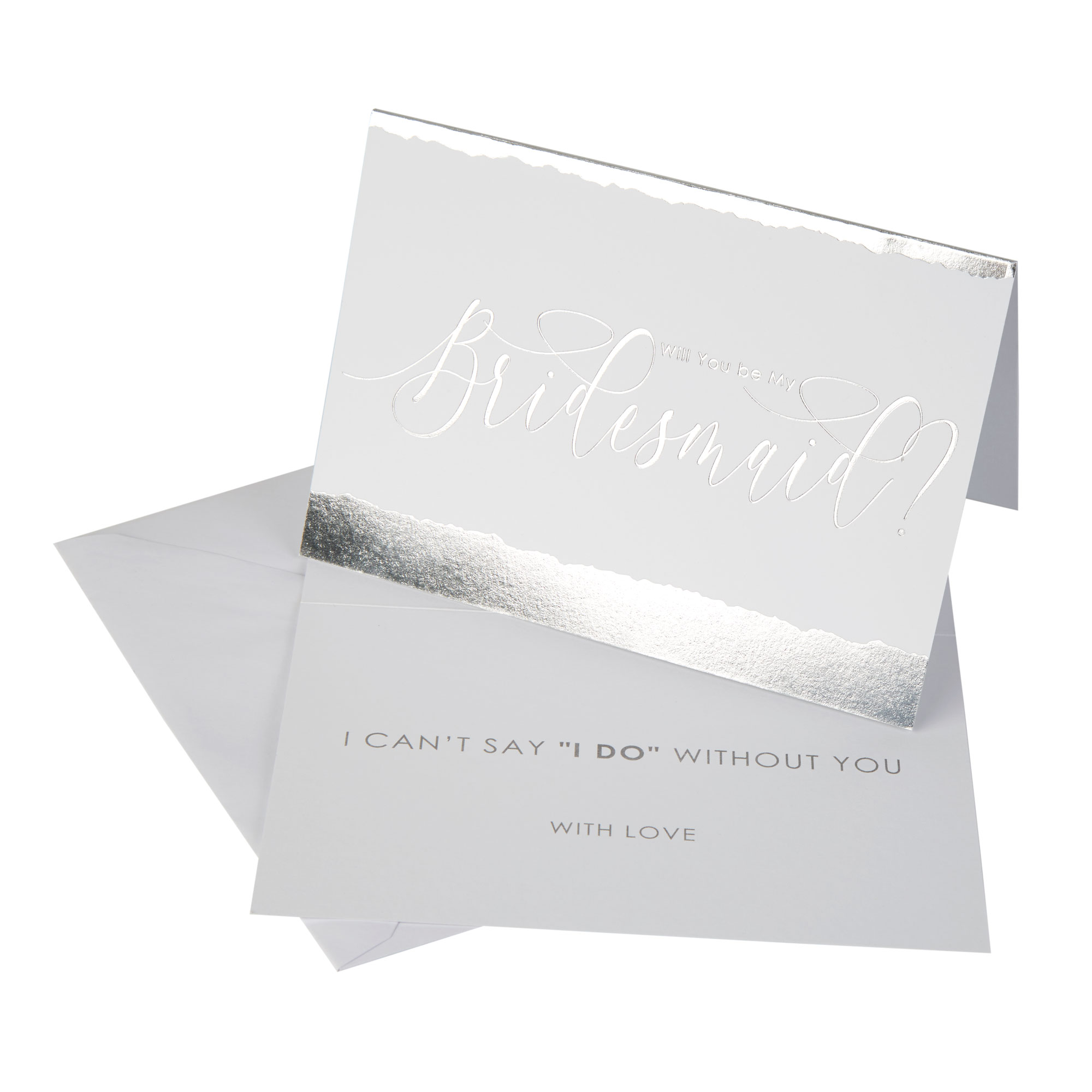 Neviti Dipped in Silver Bridesmaid Cards - 3 Pack