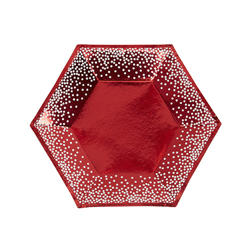 Red & White Dots Plate - Medium