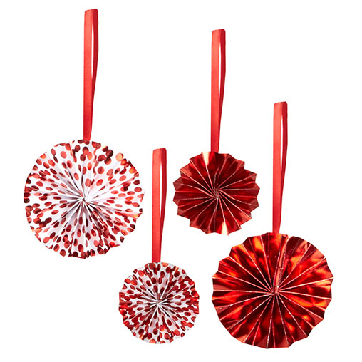 Red Dot Tree Decoration Pinwheels