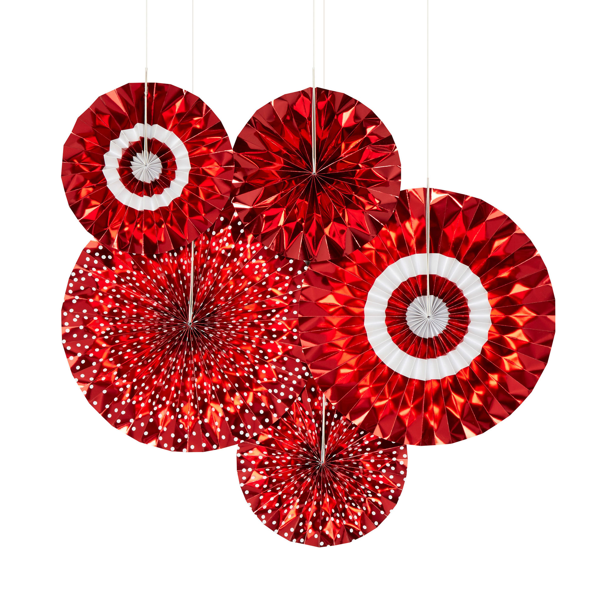 Pinwheel Decorations - Red & White Dots