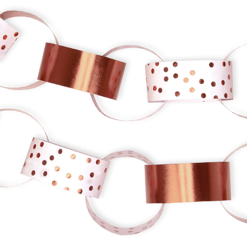 Paper Chains - Rose Gold Dotty Design