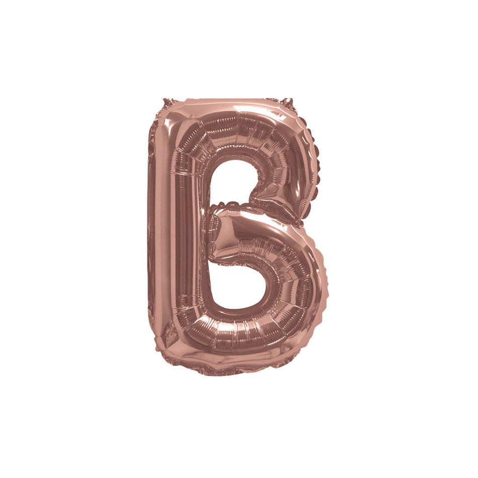 "Rose Gold Foil Balloon 405mm (16 "") Letter B"