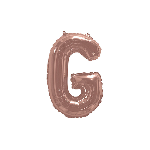 "Rose Gold Foil Balloon 405mm (16 "") Letter G"