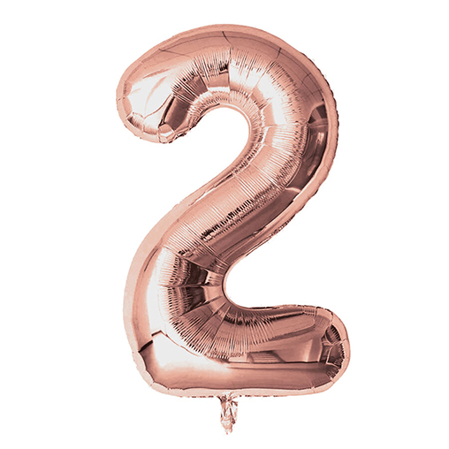 "Rose Gold Foil Balloons 810mm (32"") Number 2"