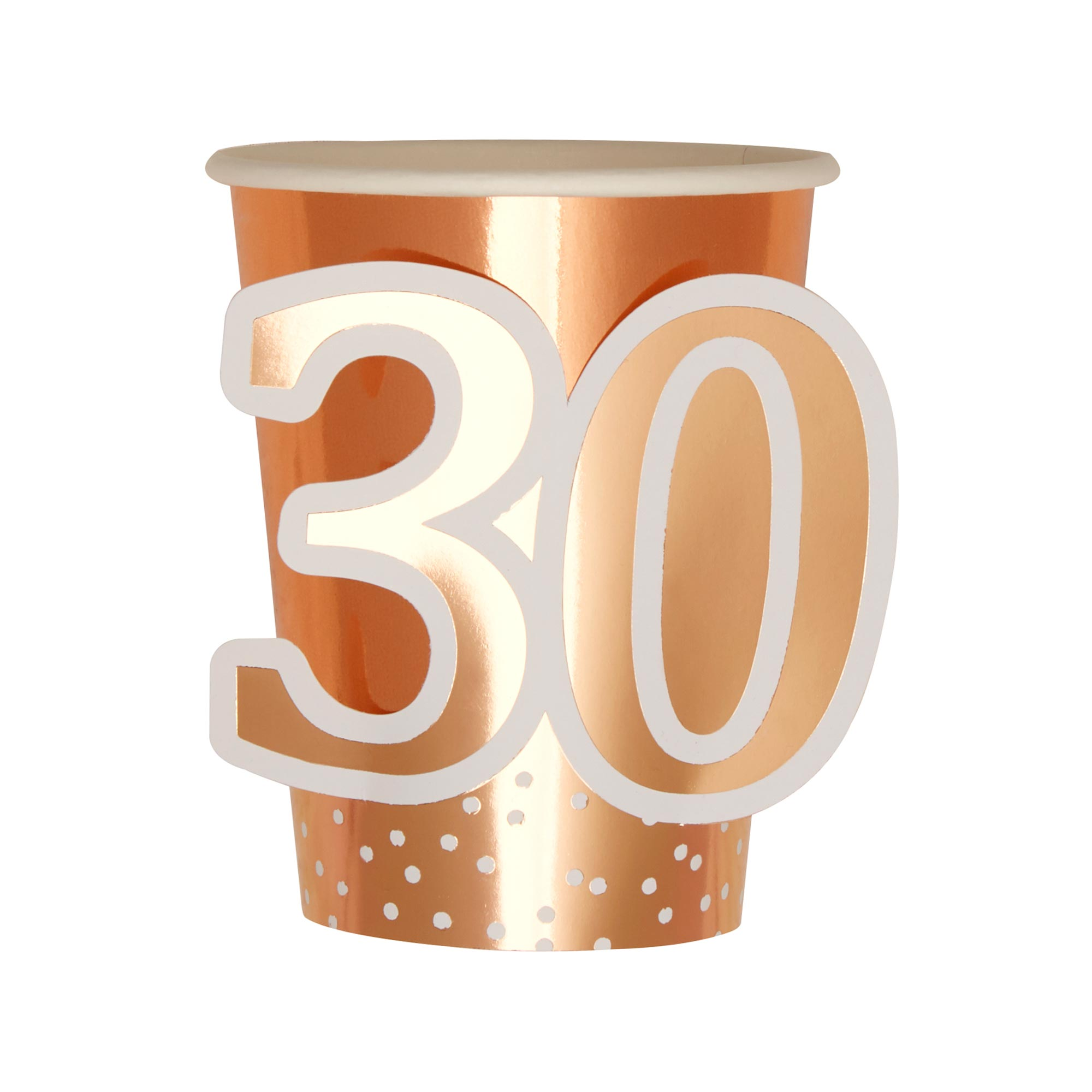 Rose Gold Birthday - Cup - Age 30