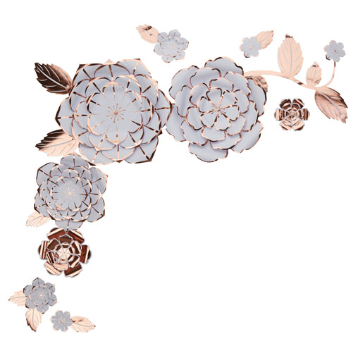Paper Flower Wall Art Kit - Rose Gold