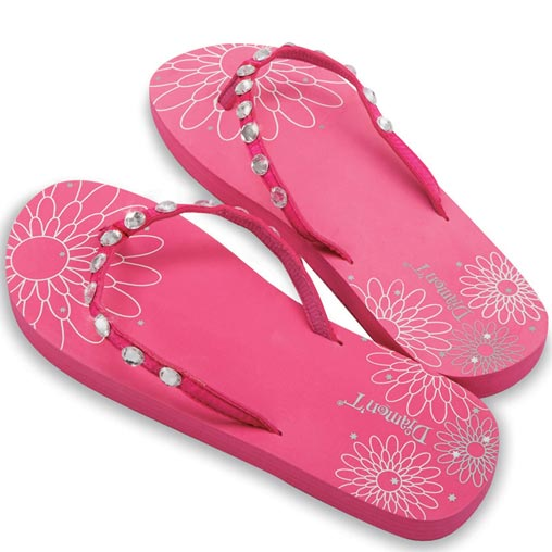 Diamon-T Flip Flops Pink Large