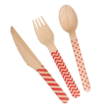 Carnival - Cutlery Set - Red