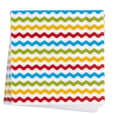 Carnival - Napkins - Waves Multi
