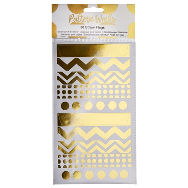 Pattern Works Straw Flags - Gold